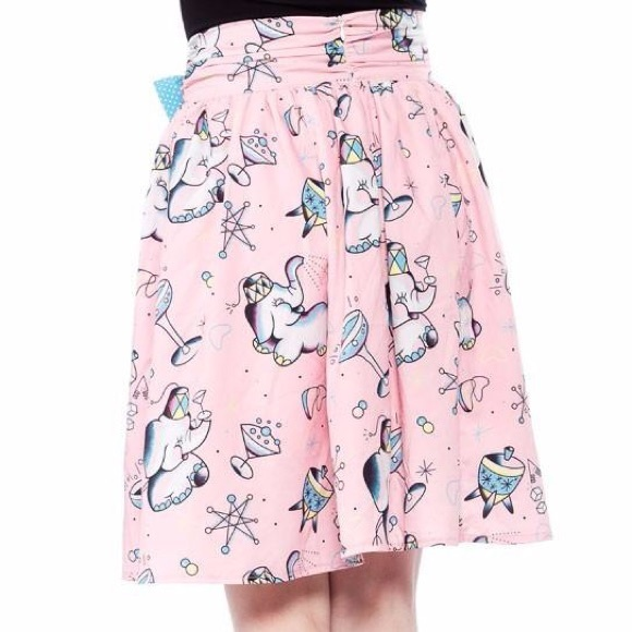 89ce4bacd8f546 Sourpuss Tipsy Elephant Skirt Small. M 5b8345ea9e6b5bd182876a51